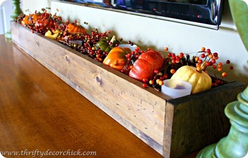 wood fall centerpiece