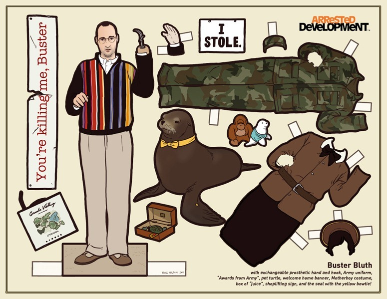 arrested development buster bluth paper dolls