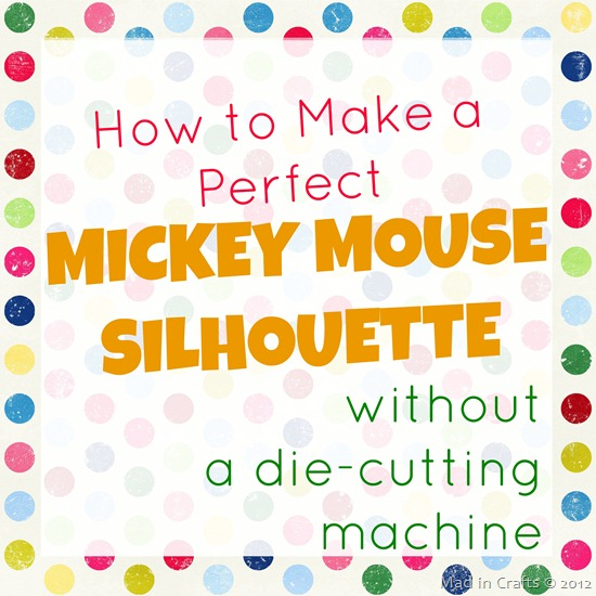 How to Make a Perfect Mickey Mouse Silhouette
