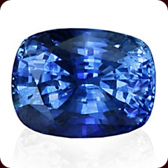 Cushion Sapphire Medium Blue