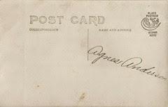 Agnes Anderson Postcard DL ant back