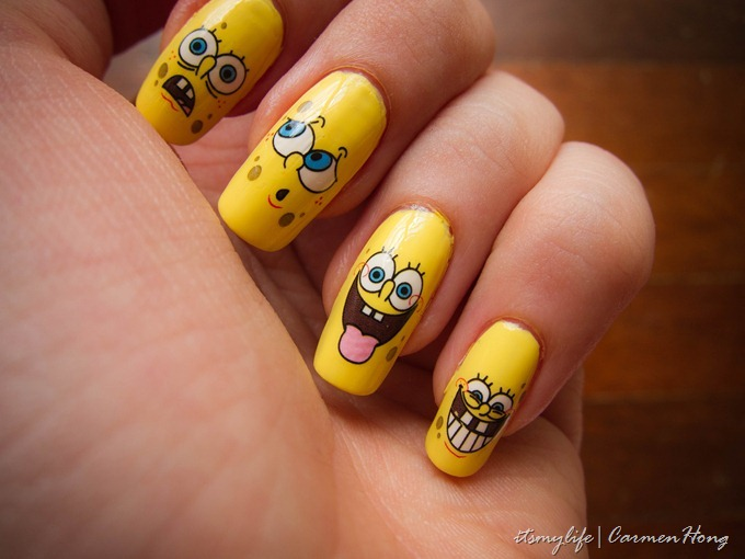Nail art spongebob your favourite cartoon its my life img1291 prinsesfo Image collections