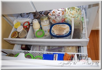 Bottom Freezer Basket After {A Sprinkle of This . . . . A Dash of That}