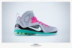 nike lebron 9 ps elite grey candy pink 9 04 sneakerbox LeBron 9 P.S. Elite Miami Vice Official Images & Release Date