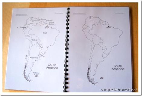 Laminated Maps Book ~ Our Aussie Homeschool