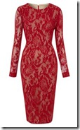 Pied a Terre Red Lace Shift Dress