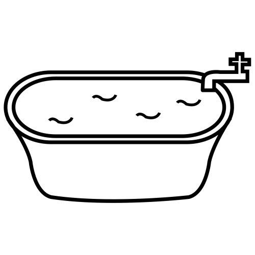 Baño En Tina Para Ninos:Bathtub Coloring Page