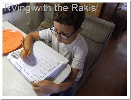 From full time teacher to homeschooling mom - how it's really going to school three kids in an RV.  RVing with the Rakis