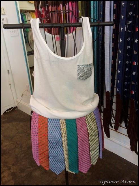 skirt tie display