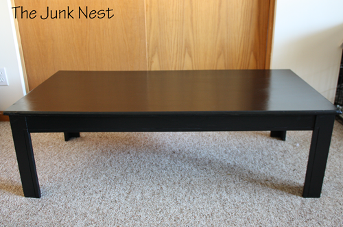 the junk nest: simple coffee table makeover