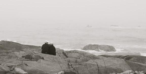 Qingdao - Vieux couple romantique by the sea