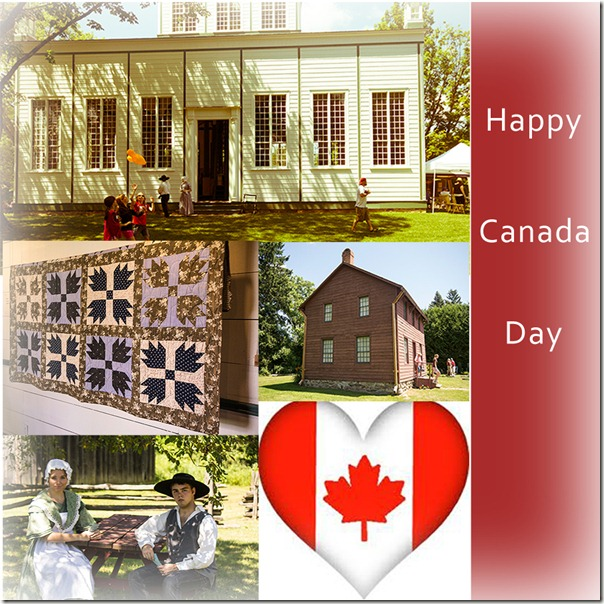 Happy Canada Day mosaic
