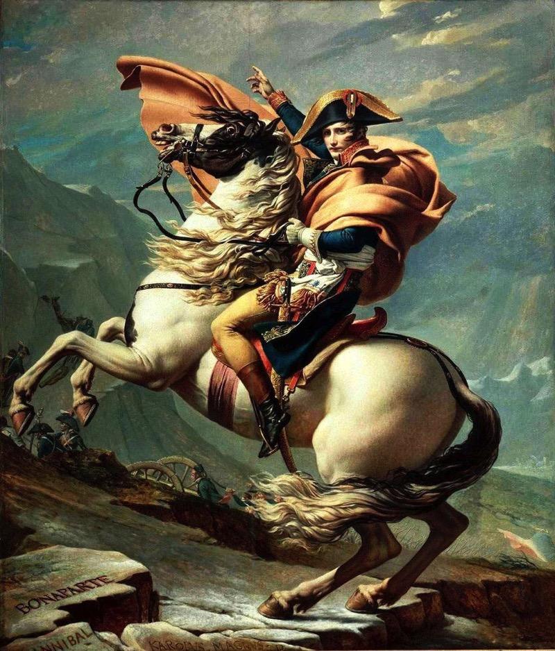 David Napoleon crossing the Alps Malmaison1