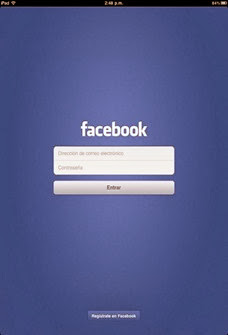 Iniciar sesión en Facebook desde iPhone - iPad