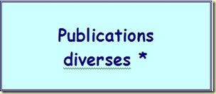 publications diverses