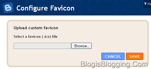 Configure Favicon - Upload your Custom Favicon Widget