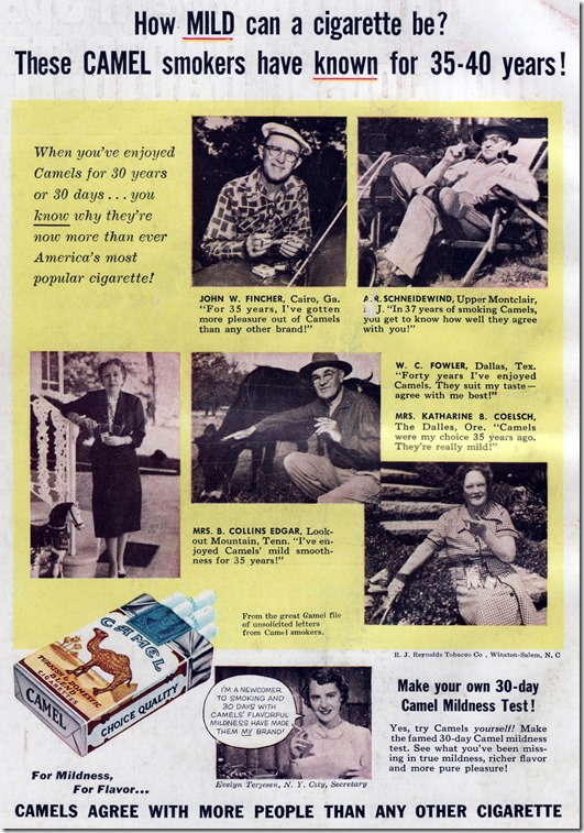 camel ad 1954