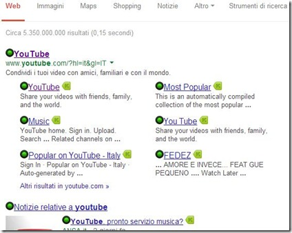Bitdefender TrafficLight icona risultati ricerca