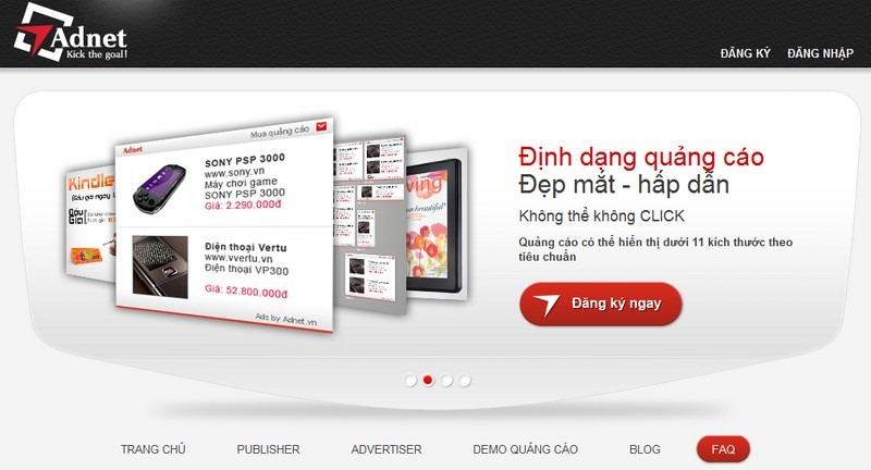 make money online Adnet - mạng lưới quảng cáo kiếm tiền trực tuyến