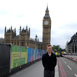 matt in front of the big ben in London, London City of, United Kingdom