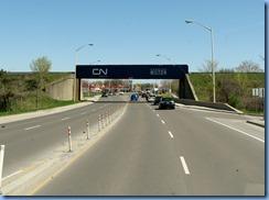 4308 motorhome trip to Bronte Creek Provincial Park  Hwy 25 Milton CN bridge