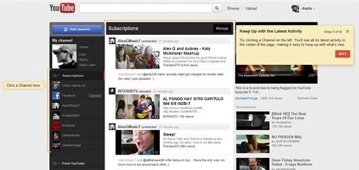 YouTube-actividad