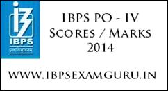 IBPS PO Phase-IV Scores 2014
