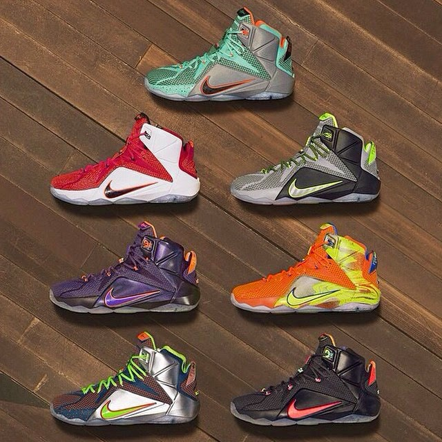 sports shoes 37c4c f78b1 Seven Nike LeBron 12 Colorways Revealed to Launch in 2014 ...