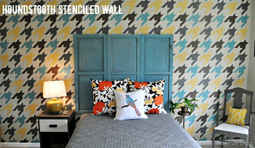 Perfect Houndstooth Stenciled Wall