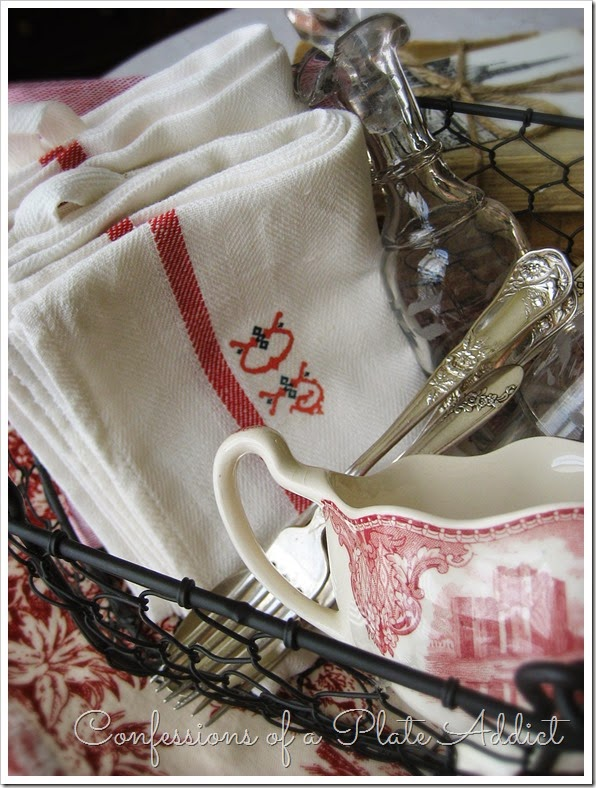CONFESSIONS OF A PLATE ADDICT No-Sew Vintage Look French Monogrammed Linens