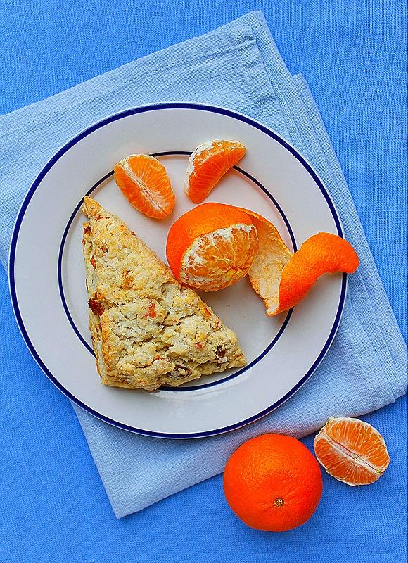 Buttermilk Scones with Golden Raisins & Candied Orange Peel