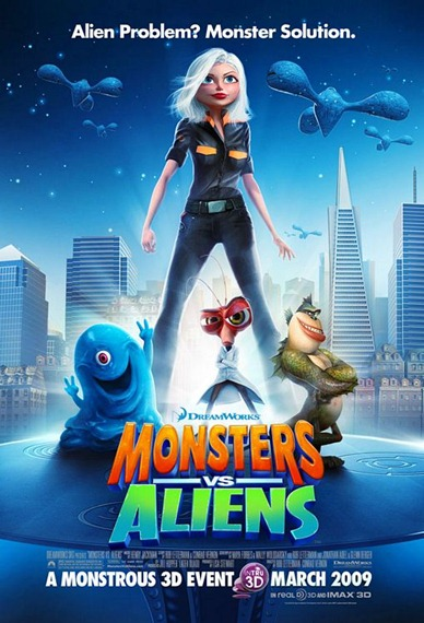 Monsters vs Aliens (2009) Blu-Ray  Cover