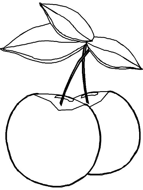 Dibujos para colorear cerezas for Pared color cereza