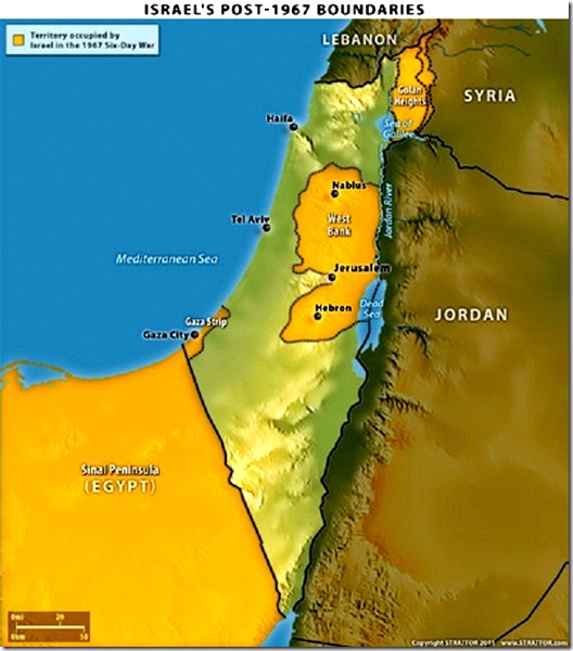 Israel's Post 1967 Borders