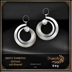 DANIELLE Krony Earrings Platinum And Diamond'