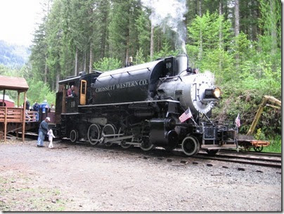 IMG_6625 Crosset Western 2-8-2T #10 at Moulton Falls on May 27, 2007