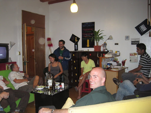 Sharing tequila with new friends in our hostel in Mexico City.