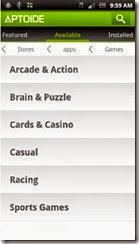 يوجد-ثلاثة-أقسام-متاحة-على-تطبيق-Aptoide---الألعاب-Games---البرامج-Apps---المتاجر--Stores