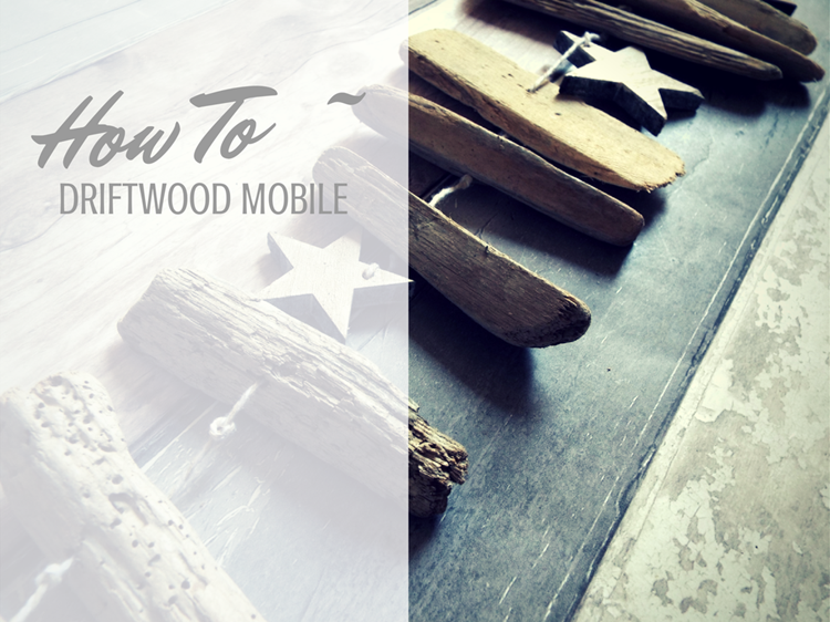 How to diy a driftwood mobile