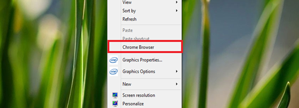 Chrome browser context menu