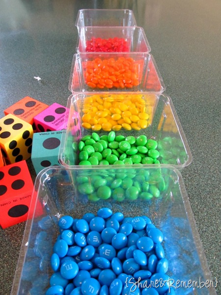 Roll A Rainbow Preschool Game