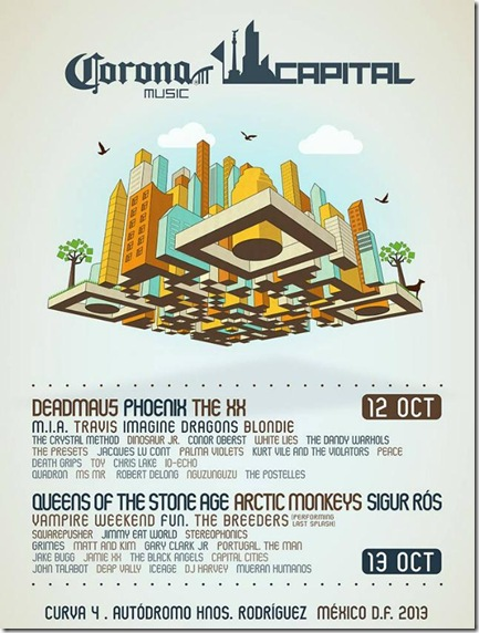 cartel completo corona capital mexico 2013
