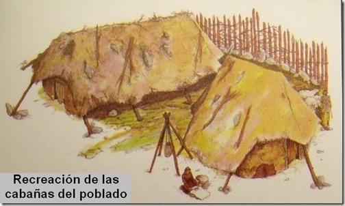 Recreación de las cabañas del poblado de Angosta de los Mancebos