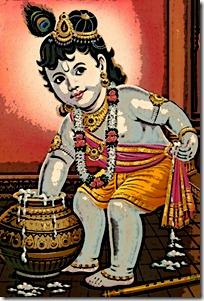 Krishna stealing butter