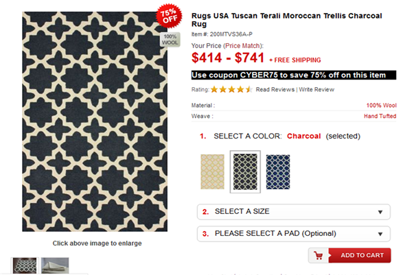 Tuscan Terali Moroccan Trellis Rug