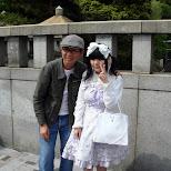 a happy visitor to Harajuku in Harajuku, Tokyo, Japan