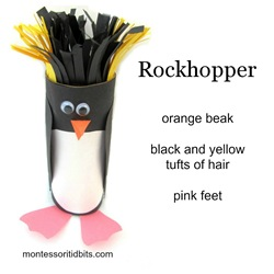 Antartica Rockhopper penguin craft