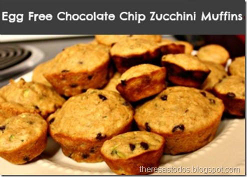 Egg Free Chocolate Chip Zucchini Muffins