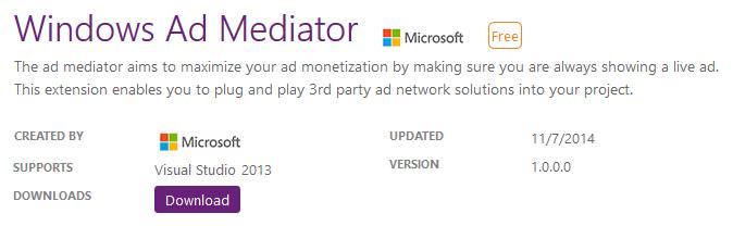 Download Ad Mediator Visual Studio Plugin (www.kunal-chowdhury.com)