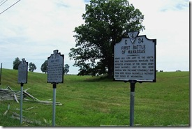 First Battle of Manassas Marker C-34 on Warrenton Turnpike